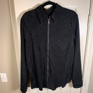 H&M Faux Suede Shirt Jacket